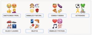 Categorías emoji